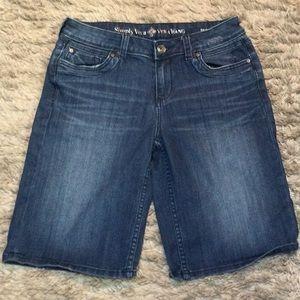 Vera Wang denim boyfriend shorts